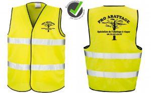 Gilet de sécurité jaune fluo 2 bandes Image